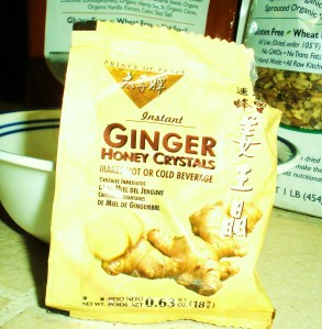 or use/make your own ginger crystals or flakes that are actually raw. I think pickled or candied ginger would taste great, too!