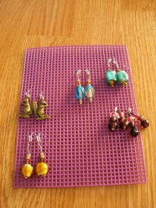 earring plastic embroidery frame