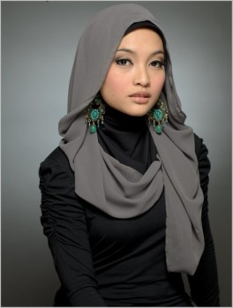 Most of my friends usually just wear a hijab like this, not a full burqa.